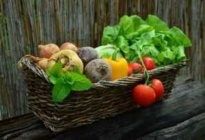 panier garni de légumes